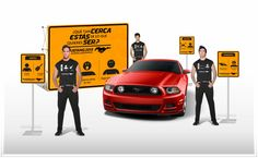 """Render Activación Mustang, Concepto: """"¿Qué tan cerca estás de lo que quieres ser?""""."""
