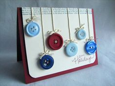 Button Ornament card...this is so adorable!  definitely in the running for christmas cards!