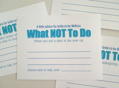funny bridal shower game wedding shower funny advice cards wedding advice wedding advice