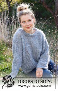 Knitting Gauge, Lace Knitting, Knitting Patterns Free, Knit Crochet, Crochet Patterns, Drops Design, Magazine Drops, Fluffy Sweater, Knit Dishcloth