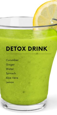 Natural Detox Drink To Lose Belly Fat Fast - She Made by Grace