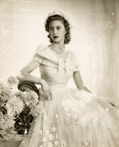 Portrait of Princess Margaret Rose (1930-2002), Countess of Snowdon, as a young woman, by the prominent portrait photographer Dorothy Wilding, who made a number of official photographs of the royal family.  The inscription on the back indicates that it was apparently used in a publication.