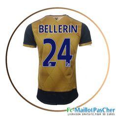 Maillot du Arsenal doré BELLERIN 24 Exterieur 15 2016 2017