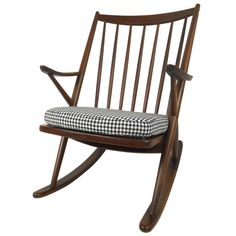 1stdibs - Beautiful Mid-Century Walnut Rocking Chair explore items from 1,700  global dealers at 1stdibs.com