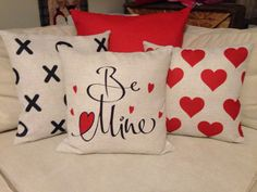 Be Mine Valentines pillow cover by Pillows4Everyone on Etsy