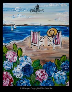 Beach Chairs by the Bay Painting - Jackie Schon, The Paint Bar