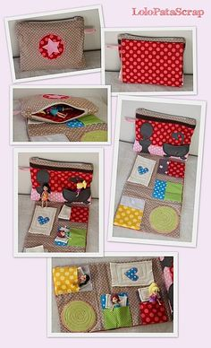 A dollhouse in a bag :-) Diy For Kids, Crafts For Kids, Toy House, Doll Beds, Doll Quilt, Couture Sewing, Fabric Houses, Sewing Toys, Felt Toys