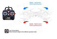 Syma X5C X5C-1 New Version Explorers 2.4G 4CH RC Quadcopter Mode 2 With Camera - US$45.99