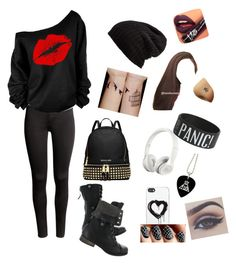 """There's a tear in my heart"" by demi9639 ❤ liked on Polyvore featuring H&M, MICHAEL Michael Kors, Zero Gravity, Beats by Dr. Dre, Free People and Fiebiger"