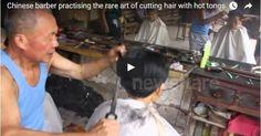 #HeyUnik  Dahouija, Teknik Memotong Rambut Dengan Menggunakan Penjepit Logam Panas #Video #YangUnikEmangAsyik