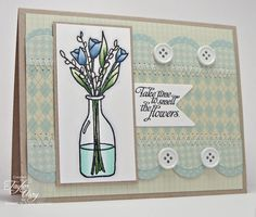 WT363 Smell the Flowers by stagccva - Cards and Paper Crafts at Splitcoaststampers