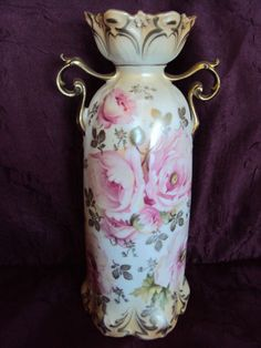 Fancy Handled RS Prussia Vase