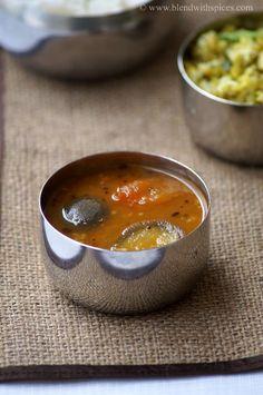 Vankaya Sambar Recipe - Kathirikai Sambar