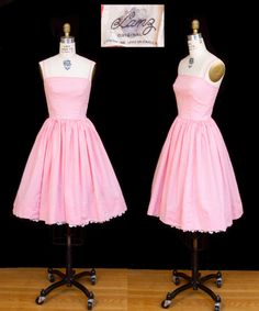 1950s Dress // Pink Gingham Cotton Sundress with by GarbOhVintage