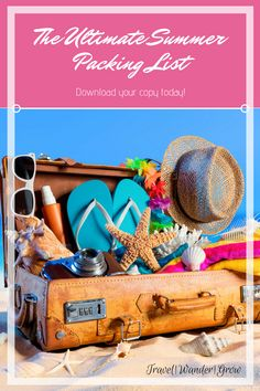 Get your download of the ultimate summer packing list here! #summerpackinglist #packinglist