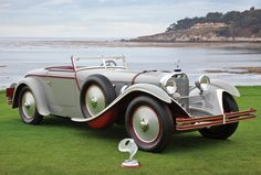 1928 Mercedes-Benz Saoutchik Torpedo Award: 2012 Best of Show @ Pebble Beach Concours Owner: Paul & Judy Andrews Mercedes Benz Maybach, Mercedes Car, Classic Cars British, Classic Sports Cars, Convertible, Vintage Rolls Royce, Automobile, Daimler Benz, Pebble Beach Concours