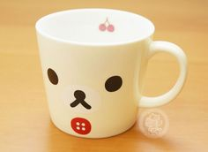 Un mug kawaii de la marque japonaise San-X, avec le petit ours Korilakkuma !!(♡^x^♡) - Boutique kawaii en ligne www.chezfee.com