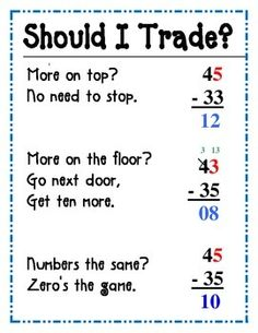 Subtracting Two-Digit Numbers: Decompose a Ten | Sentences ...