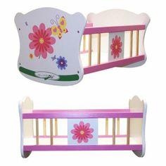 Molly P. Originals Wood Cradle for 18 in. Fashion Doll