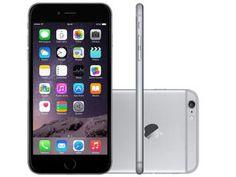 "iPhone 6 Plus Apple 64GB Cinza Espacial Tela 5,5"" - Retina 4G Câmera 8MP + Frontal iOS 8 Proc. M8"