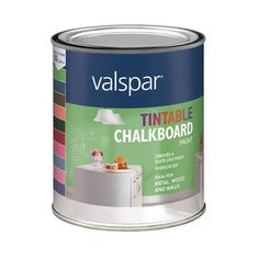 Found The Pink And Purple Chalkboard Paint From Lowes Valspar Oz Interior Flat White Latex Base
