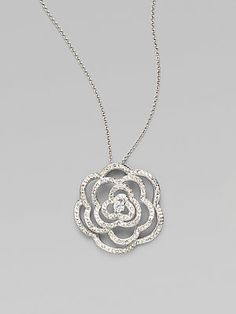 Adriana Orsini Flower Pave Necklace......I Love this !!!!!