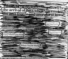 Warmer days  #newspaperpoetry #newspaperpoem #blackoutpoem #poetry #makeblackoutpoetry #blackoutpoetry #blackoutcommunity #erasurepoetry #writersofinstagram #poetsofinstagram #newspaperblackout