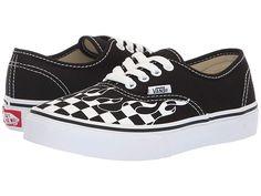 1dec17e07f Vans Kids Authentic (Little Kid Big Kid) Boys Shoes (Checker Flame)