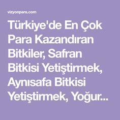 Türkiye'de En Çok Para Kazandıran Bitkiler, Safran Bitkisi Yetiştirmek, Aynısafa Bitkisi Yetiştirmek, Yoğurtotu Yetiştirmek, Tarımsal kredi