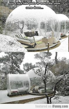Just A Nice Little Place To Watch The Snow... I want it sooo bad!