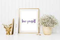 Love Yourself Print by Lovelittlejdesigns on Etsy