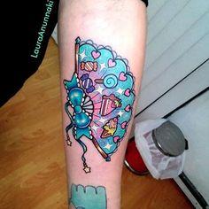 Sweets tattoo by Laura Anunnaki. #candy #sweet #LauraAnunnaki #fan #cake #icecream
