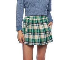 So want this skirt! Flannel Skirt, Catalog Online, Skater Skirt, Mini Skirts, Ladies Fashion, Free Delivery, Sydney, Green