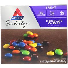 Keto Desserts To Buy: Atkins Chocolate Candies Keto Desserts To Buy, Low Carb Desserts, Keto Snacks, Keto Foods, Vegan Foods, Sugar Free Gummy Bears, Mousse, Keto Postres, Coconut Candy