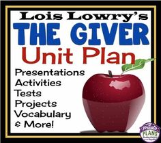 THE+GIVER+UNIT+PLAN+Enter+the+world+of+Sameness!++This+unit+plan+has+everything+you+will+need+to+teach+Lois+Lowrys+award-winning+novel+The+Giver.+With+over+340+pages/slides+of+eye-catching+powerpoints,+printable+assignments,+questions,+vocabulary,+and+interactive+class+activities,+you+will+have+everything+you+need!_____________________________________________________________________Feedback+On+This+Resource:++This+unit+is+worth+every+penny+I+spent+on+it!