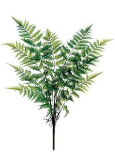 Artificial Forest Fern Bush in Two Tone Green