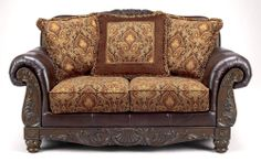 Buy Low Price Signet by ivgStores Traditional Loveseat w Pillows & Floral Upholstery (ash-sign-100411)