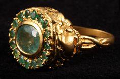 Jade Jagger Ltd Skullduggery Gold Plated Emerald Ring Gold Jewelry, Jewelry Box, Vintage Jewelry, Fine Jewelry, Jewellery, Jade Jagger, Fashion Agency, Jewelry Branding, Gemstone Rings