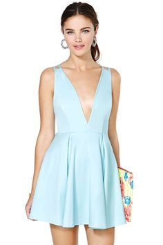 Nasty Gal Live It Up Dress - Blue | Shop Clothes at Nasty Gal