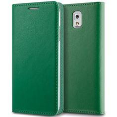 Samsung Galaxy Note 3 Wallet Case – Verus Leather Slim Card Slot Case (Deep Green)