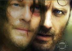 The Walking Dead, Memes Rick Grimes, Andrew Lincoln, Daryl Dixon, Norman Reedus, Bro-mance