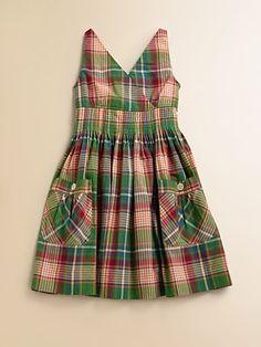 Ralph Lauren Girl's Madras Dress