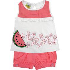 Conjunto Recém Nascido e Bebê Menina Melancia Rosa - Jaca-Lelé :: 764 Kids | Roupa bebê e infantil