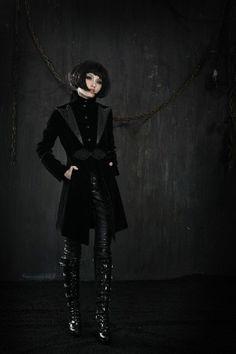 gothic Black punk visual kei JApan coat jacket blazer