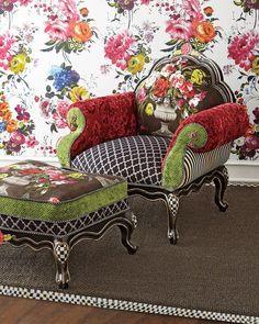 MacKenzie-Childs Botanica Chair: