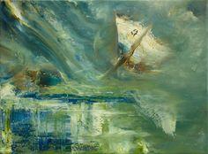 """Saatchi Art Artist: Bernd Hoppe; Oil 2012 Painting """"Force Fields 4/12"""""""