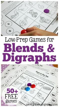 50+ Low-Prep Games for Blends and Digraphs   This Reading Mama
