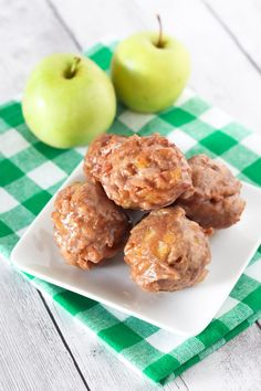 Gluten Free Vegan Apple Fritters. Give me ALL the fried, crispy apple fritter goodness!