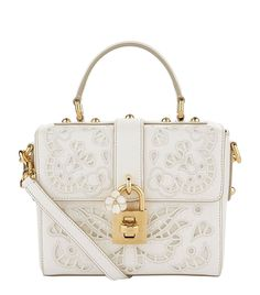 5ea1d39e5f Dolce   Gabbana Lace Padlock Nappa Leather Top Handle Bag. Dolce And Gabbana  Handbags