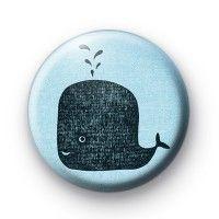 Big Blue Whale Badges Button Badges £0.85